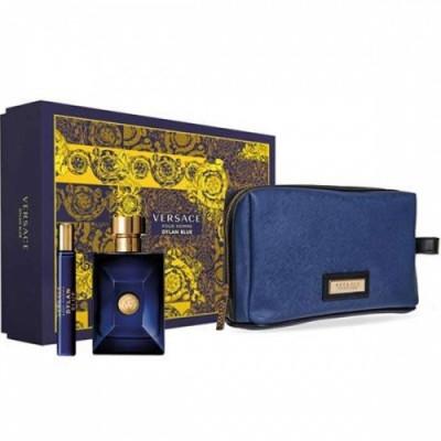 Seturi Barbati, Versace Dylan Blue Apa de Toaleta 100 ml + Apa de Toaleta 10 ml + Geanga, 100 + 10ml foto