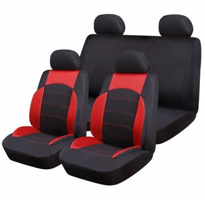 Huse scaune auto RoGroup Sport Line, 9 bucati, rosu foto