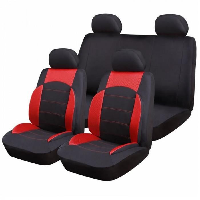 Huse scaune auto RoGroup Sport Line, 9 bucati, rosu