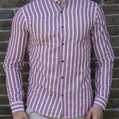 Camasa visiniu alb - camasa slim fit camasa barbat camasa ocazie cod 194