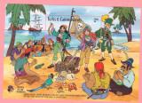 WALT DISNEY-35=TURKS&CAICOS ISLANDS=Piratii din Caraibe-colita nestampilata, Nestampilat