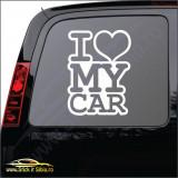 I Love My Car -Stickere Auto-Cod:ESV-188 -Dim  15 cm. x 11.1 cm