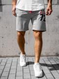 Cumpara ieftin Pantaloni scurți de trening gri bărbați Bolf EX05-1