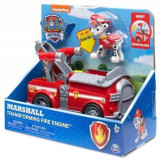 Paw Patrol - Marshall Transforming Fire Engine - Figurina cu autovehicul clasic