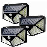 Set 3 Lampi ULTRA 100 LED Solare cu senzor de miscare si lumina 3 moduri ILUMINARE