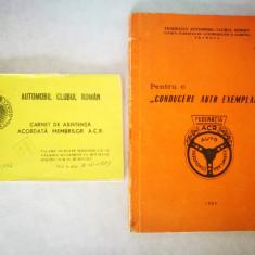 2 Carti ACR. Carnet de asistenta acordat membrilor A.C.R.