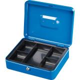 Caseta de valori din otel, dimensiuni 300 x 240 x 90 mm, albastru