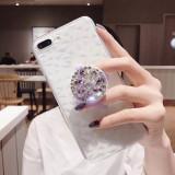 Husa Diamond silicon + Popsocket cu pietricele pt Iphone 7 , 7 Plus , 8 , 8 Plus