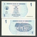 ZIMBABWE  1  DOLAR  DOLLAR  2006  2007    UNC  [1]   P-37  ,  necirculata