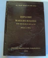 Diplome maramuresene din secolele XIV si XV, Ioan Mihalyi de Apsa, 2002 foto