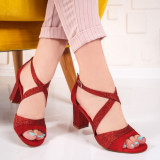 Sandale Hatami rosii cu toc -rl