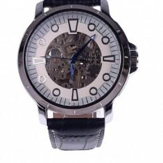 Ceas barbati mecanic, automatic elegant GOER GO715SILVER