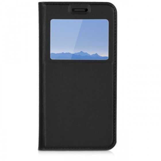 Husa Samsung S9 Neagra Portofel cu Fereastra Carte Flip Book cu Inchidere Magnetica