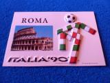 "Carte postala fotbal - ""CIAO"" Mascota CM de Fotbal ITALIA 1990"