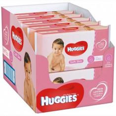 Set de 10 x Servetele umede Huggies Soft Skin, 56 buc