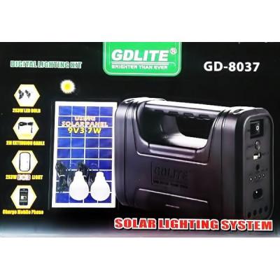 Kit Panou Solar 7W cu Lanterna Gdlite GD8037 foto