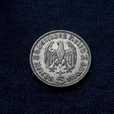 3o - Germania 5 Reichsmark 1936 d, marci germane argint WW2 mark