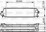 Radiator intercooler RENAULT TRAFIC II caroserie (FL) (2001 - 2014) VALEO 818771