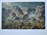 Carte Postala Militara, Germania 1915: Scena de lupta. cu Stampila Namur-Belgia