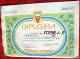 Diploma DACIADA , fotbal RSR,