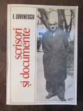 SCRISORI SI DOCUMENTE -E.LOVINESCU