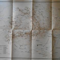 Harta fizica a pamantului romanesc, Romania Mare, 1943, Turing clubul romanesc