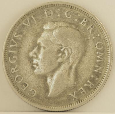 Half crown, 1945 Marea Britanie - de argint foto