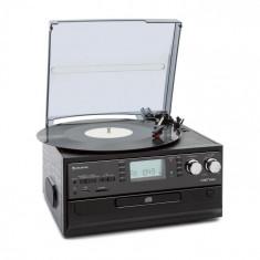 Auna Oakland, sistem stereo retro, FM, funcție BT, vinil, CD, casetofon, MP3