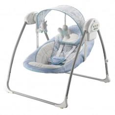 Leagan electric pentru bebelusi BabyMix BY012S-AL, Albastru