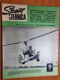 sport si tehnica septembrie 1972-zborul fara motor,planorism,parasutism,motocros
