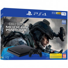 Consola SONY PlayStation 4 Slim 1TB, Jet Black + joc Call of Duty Modern Warfare