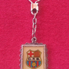 Breloc metalic fotbal (vechi) - FC BARCELONA