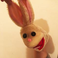 Marioneta teatru de papusi iepure / iepuras, papusa de mana