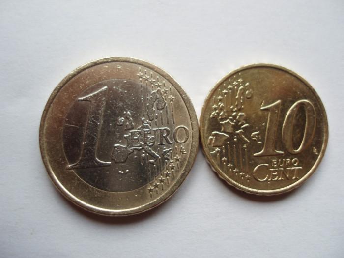 GERMANIA - 1 EURO 2002 + 10 EURO CENT 2002 LM1.03
