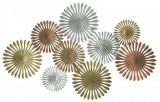 "Decoratiune metalica de perete ""Oxy-B"", L114xl5xH74 cm"
