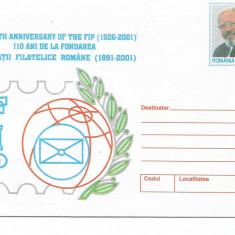 (B) plic -(cod 206/2001)-110 ani de la fondarea societatii filatelice Romane