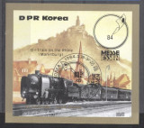 Korea 1984 Expo, Essen, Trains, imperf. sheet, used T.257