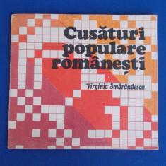 VIRGINIA SMARANDESCU - CUSATURI POPULARE ROMANESTI , 1989