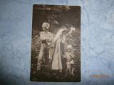 Carte postala veche1909 Principesa Maria cu printul Carol si Nicolae raritate