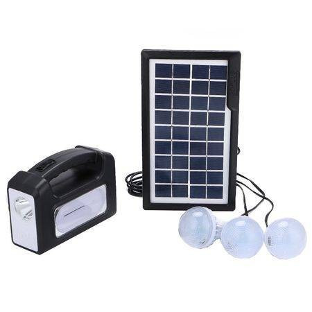 Kit panou solar Gdplus GD-7, 3 becuri, lanterna inclusa
