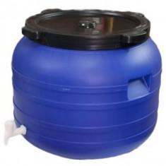 Butoi plastic 100 L cu robinet pentru tuica