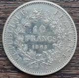 (A410) MONEDA DIN ARGINT FRANTA - 10 FRANCS 1965, 25 GRAME, PURITATE 900/1000, Europa