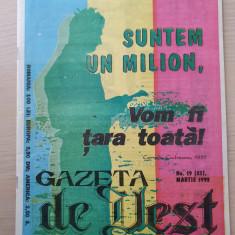 gazeta de vest martie 1993-revista legionara-ion gavrila ogoranu,garda de fier