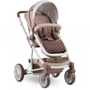 Carucior Transformabil 3 in 1, S 500 cu Cos Auto Inclus Beige Triangles