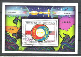 Haute Volta 1975 Space, perf. sheet, used R.045