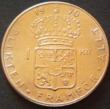 Moneda 1 COROANA - SUEDIA, anul 1970   *cod 453