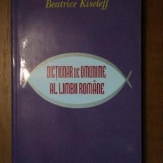 DICTIONAR DE OMONIME AL LIMBII ROMANE-BEATRICE KISELEFF