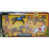 Figurine indieni + caluti, 8 piese/set