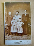 B524-Foto 1900 familie romani din Ardeal in USA Reimann& Co. Cincinnati Ohio.
