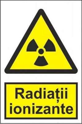 Indicator Radiatii ionizante - Semn Protectia Muncii foto